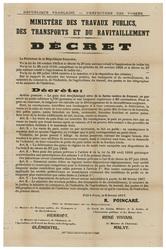 République française. Préfecture des Vosges. Ministère des travaux publics…