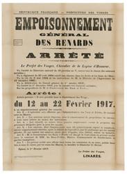 République française. Préfecture des Vosges. Empoisonnement général des re…