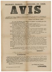 République française. Préfecture des Vosges. Avis. Le Préfet des Vosges à …