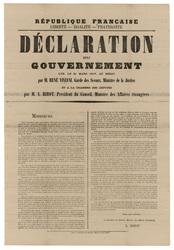 République française... Déclaration du gouvernement lue, le 21 mars 1917, …