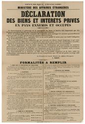 République française. Ministère des Affaires étrangères. Déclaration des b…