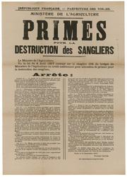 République française. Préfecture des Vosges. Ministère de l'agriculture. P…