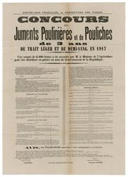 République française. Préfecture des Vosges. Concours de juments poulinièr…