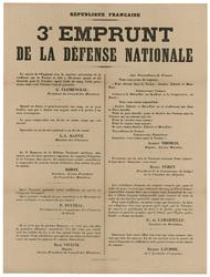 République française. 3e emprunt de la défense nationale...