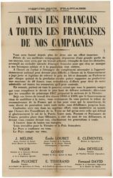 République française... A tous les français, à toutes les françaises de no…