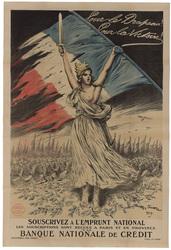 Pour le drapeau! Pour la victoire! Souscrivez à l'emprunt national, les so…