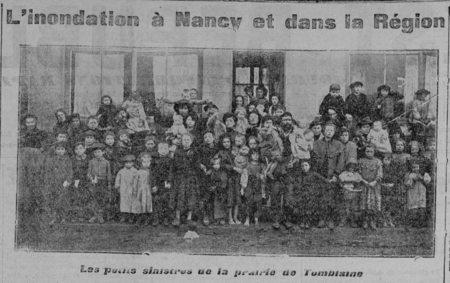 L'inondation à Nancy et dans la région