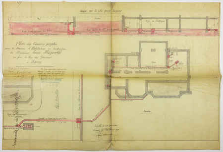 Plan des canaux projetés pour la maison d'habitation en construction de mo…