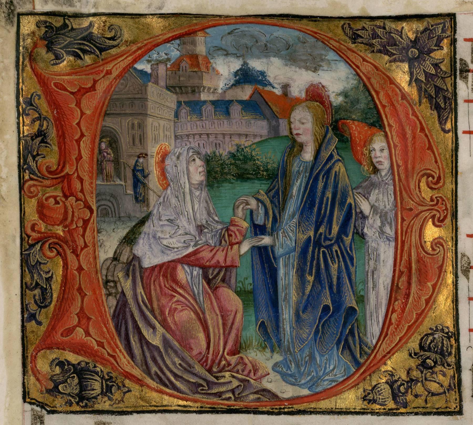 Contenu du Les lettrines peintes - Lettrine historiée D