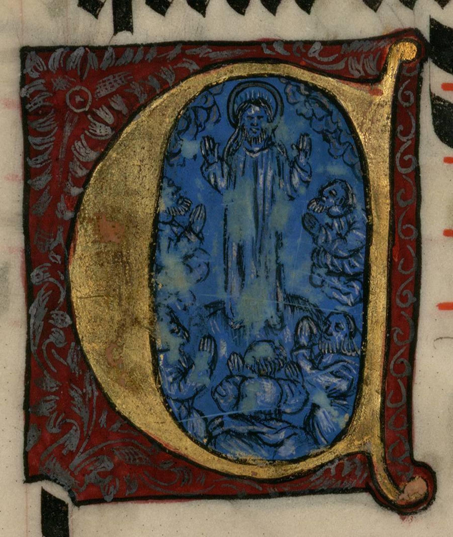Contenu du Lettrine peinte - Lettrine historiée D