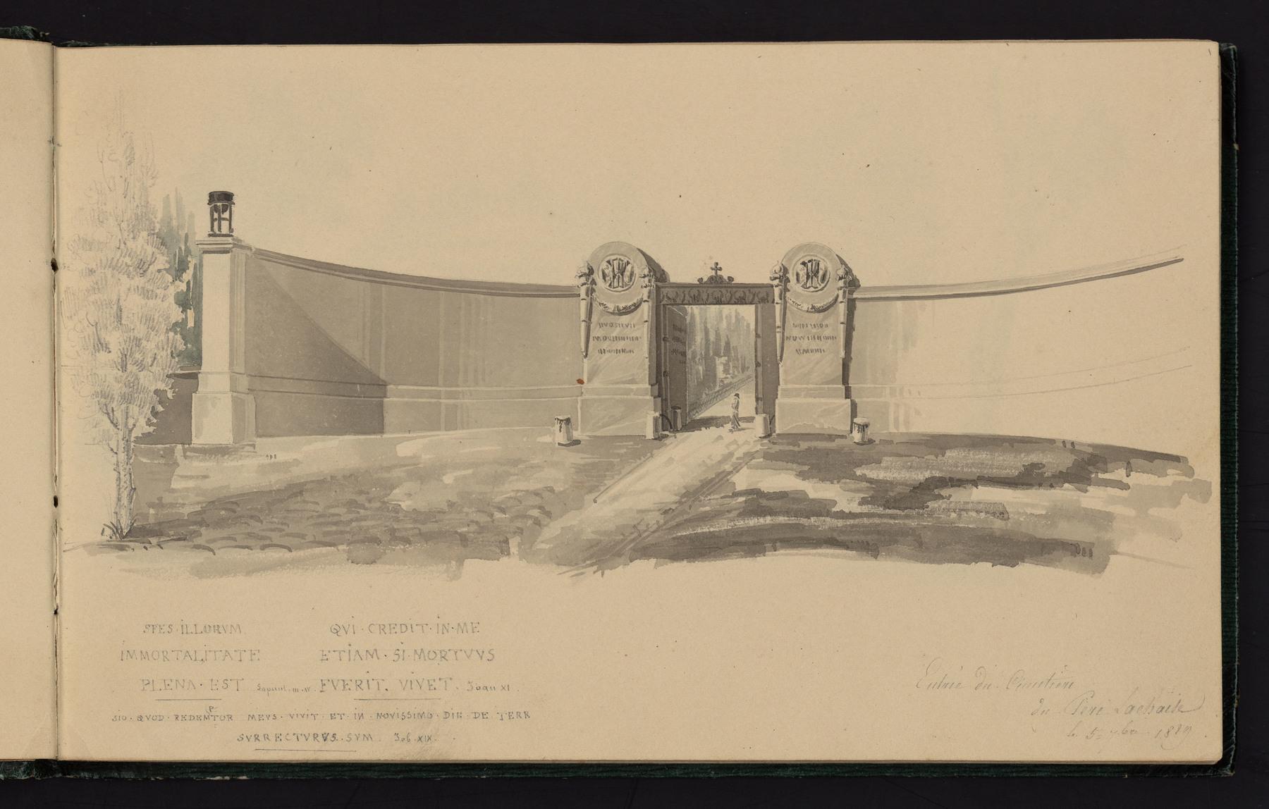 Contenu du Entrée du cimetière du Père-Lachaise