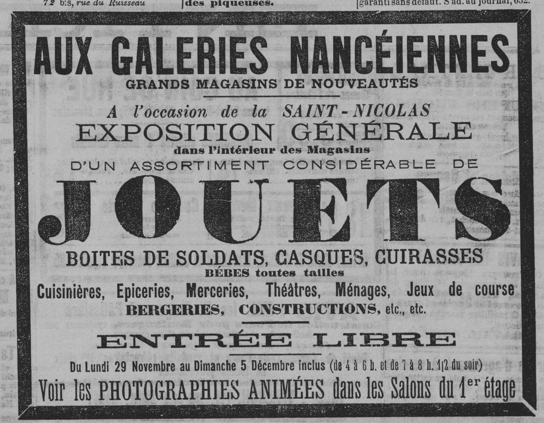 Contenu du À l'occasion de la Saint Nicolas exposition générale … de jouets