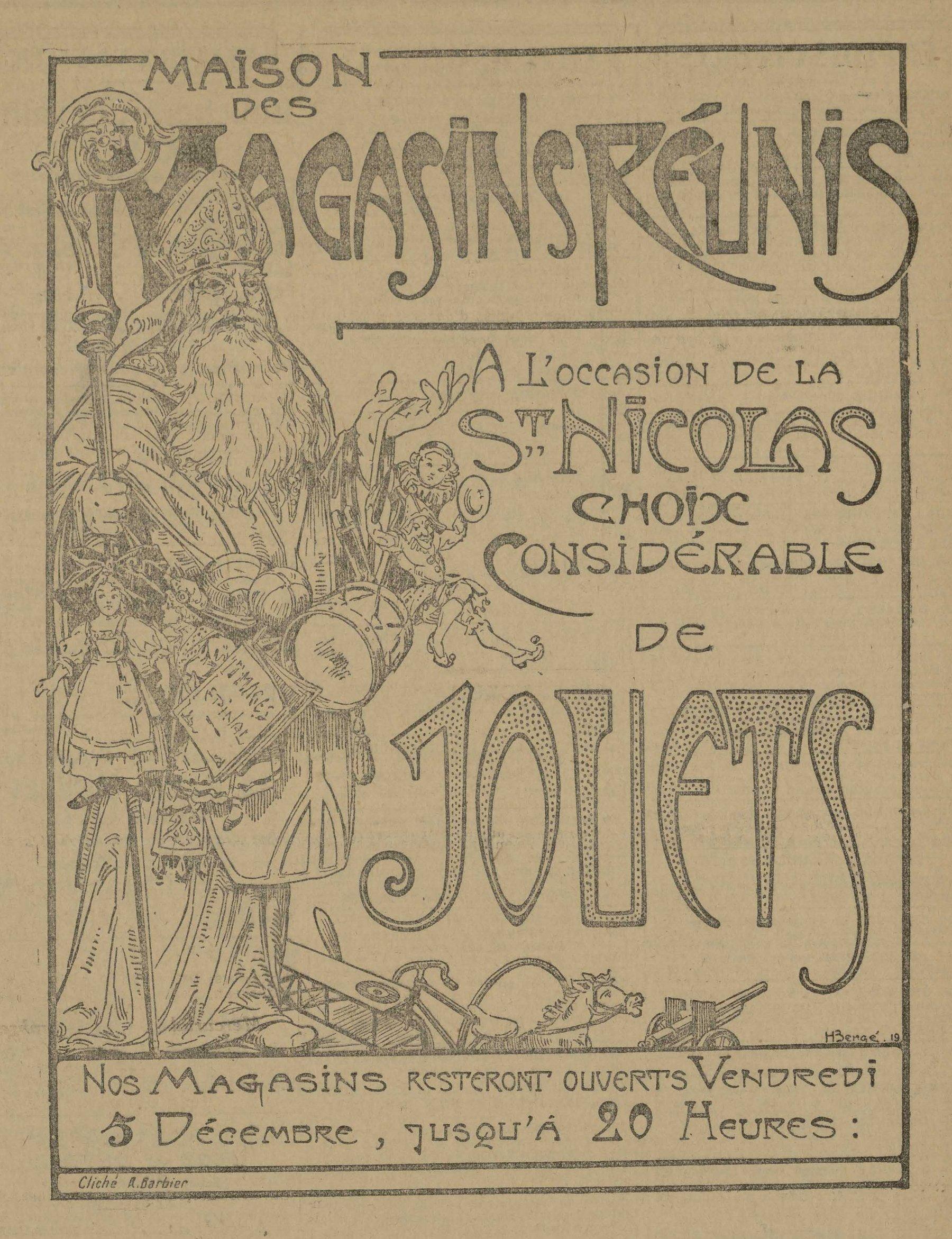 Contenu du À l'occasion de la Saint Nicolas choix considérable de jouets