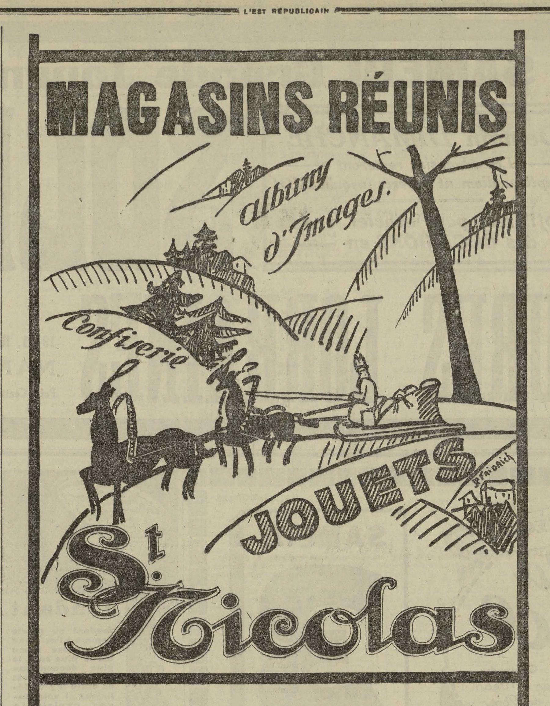 Contenu du Magasins réunis, album d'images jouets Saint Nicolas