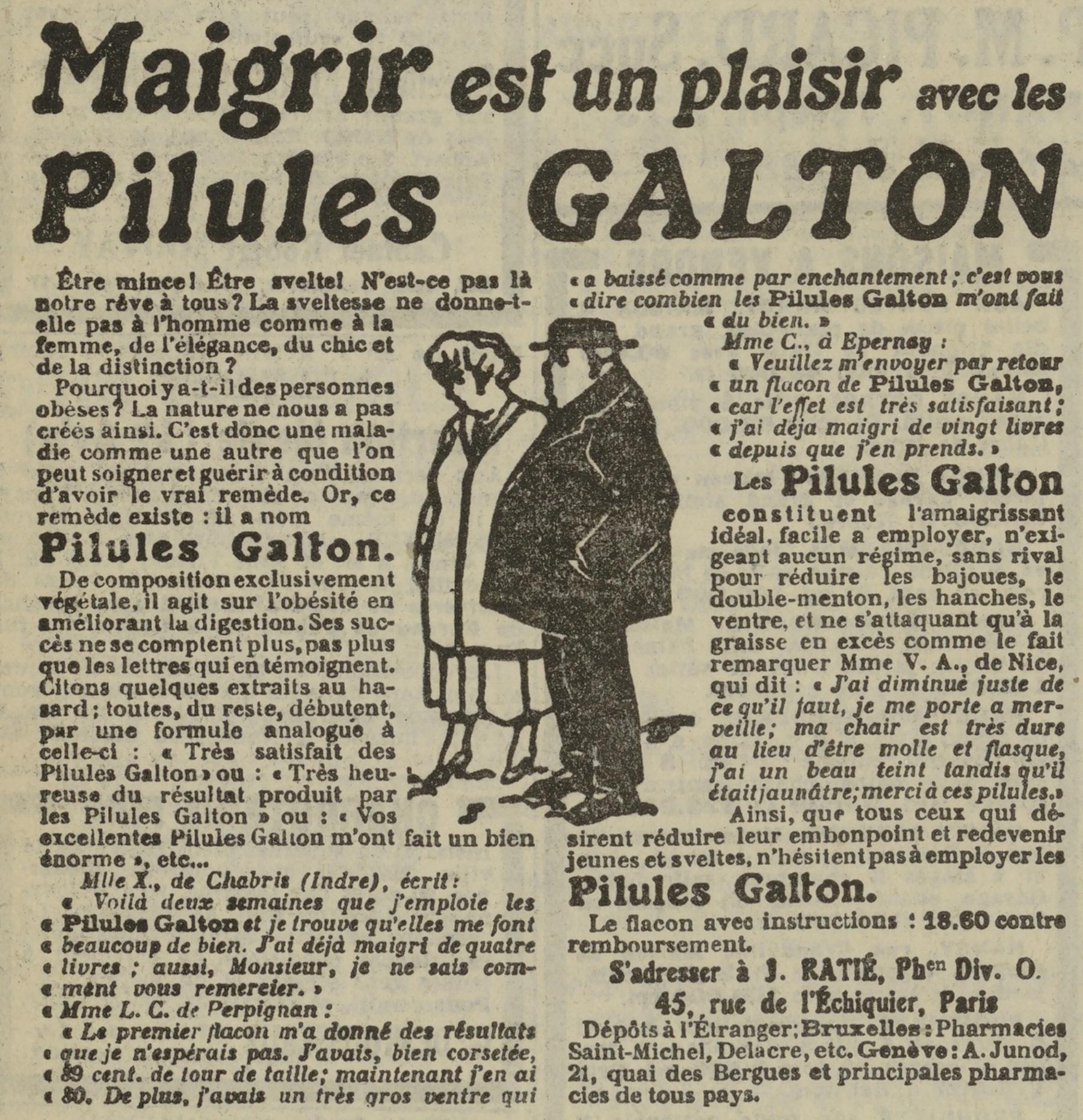 Contenu du Pilule Galton