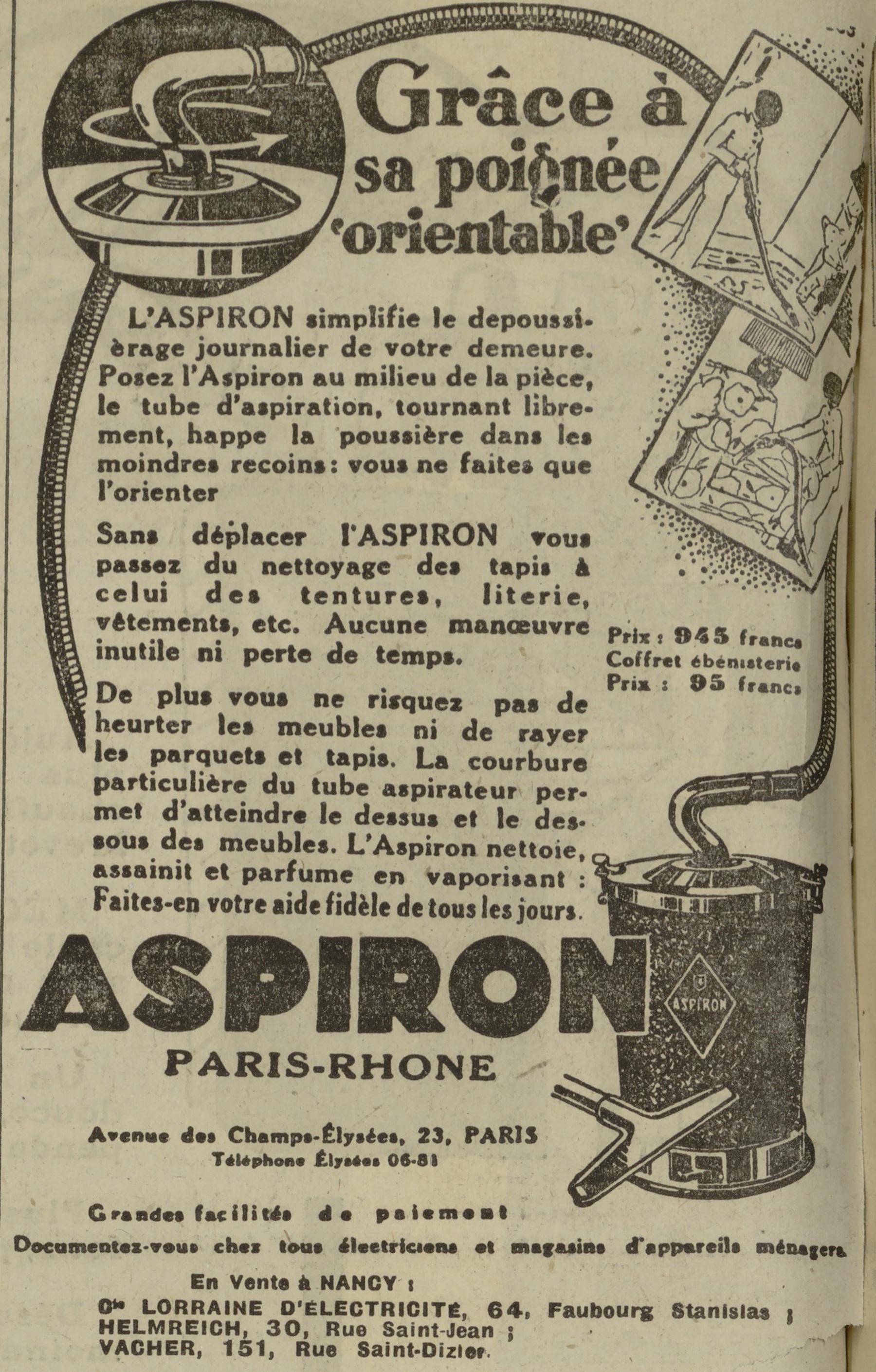 Contenu du Aspiron