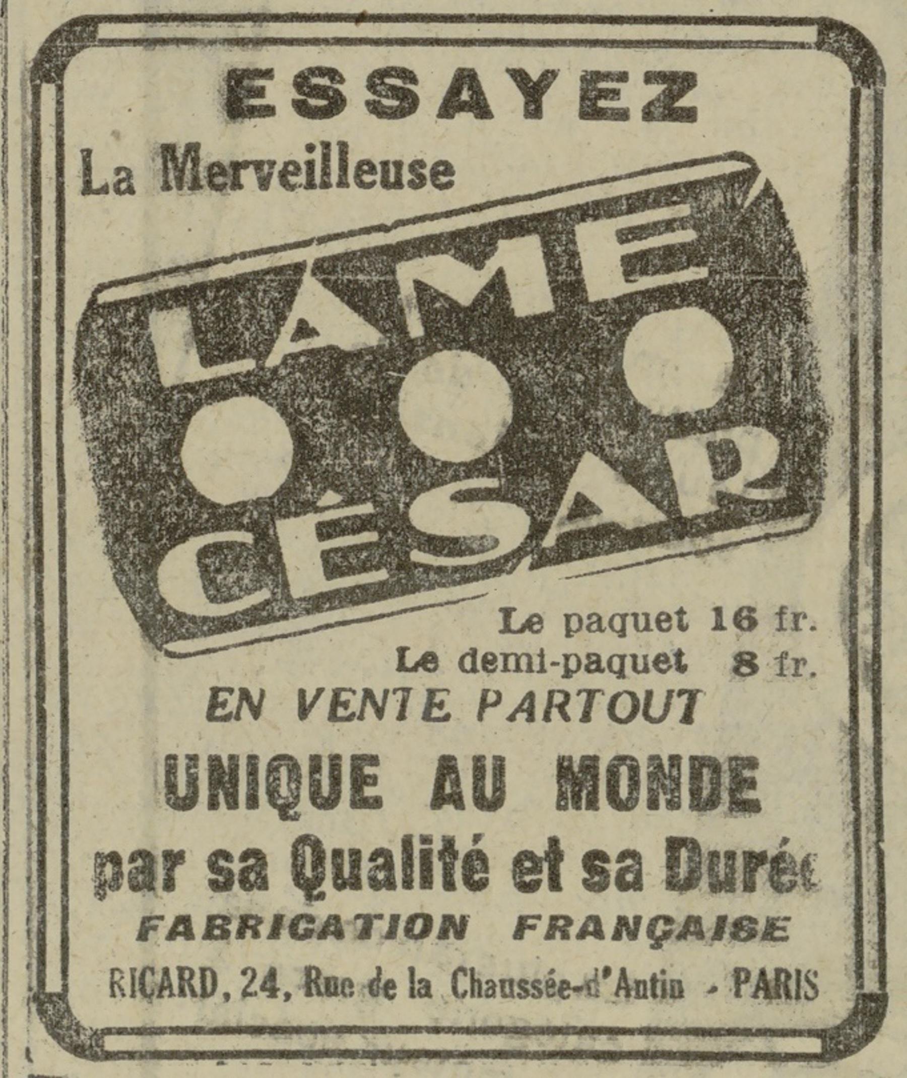 Contenu du La lame César