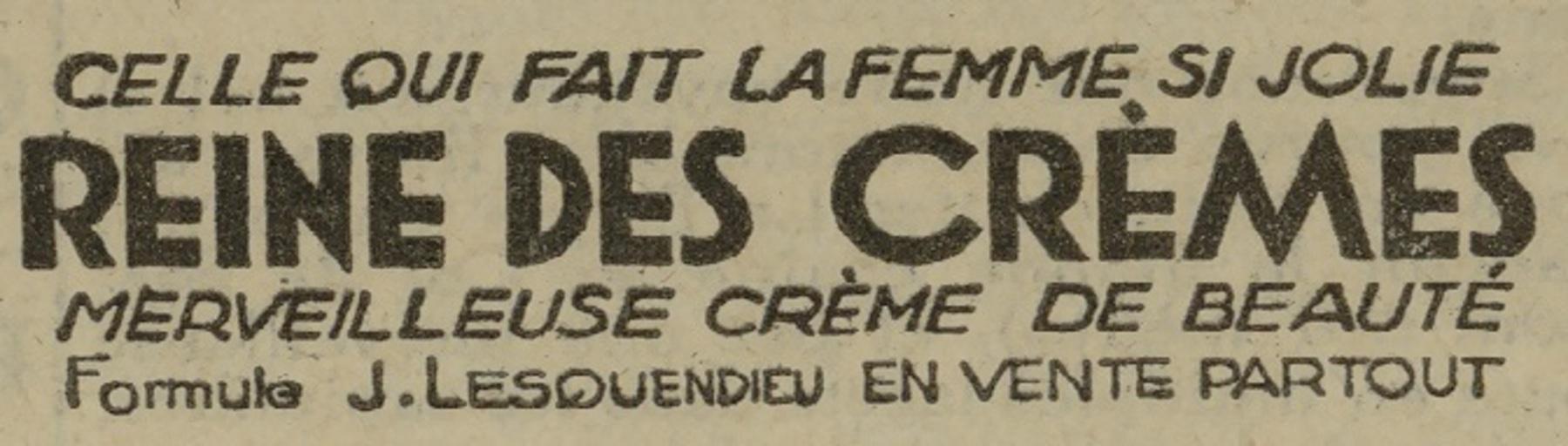 Contenu du Reine des crèmes