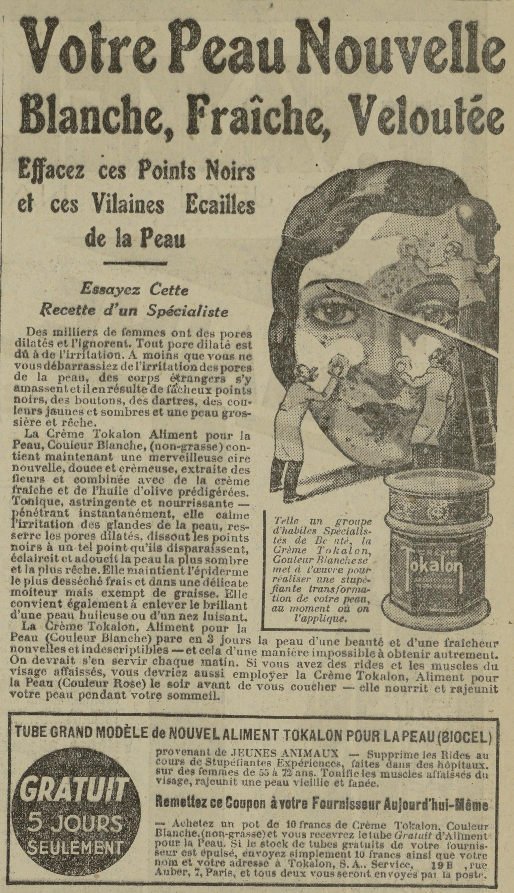 Contenu du Crème Tokalon
