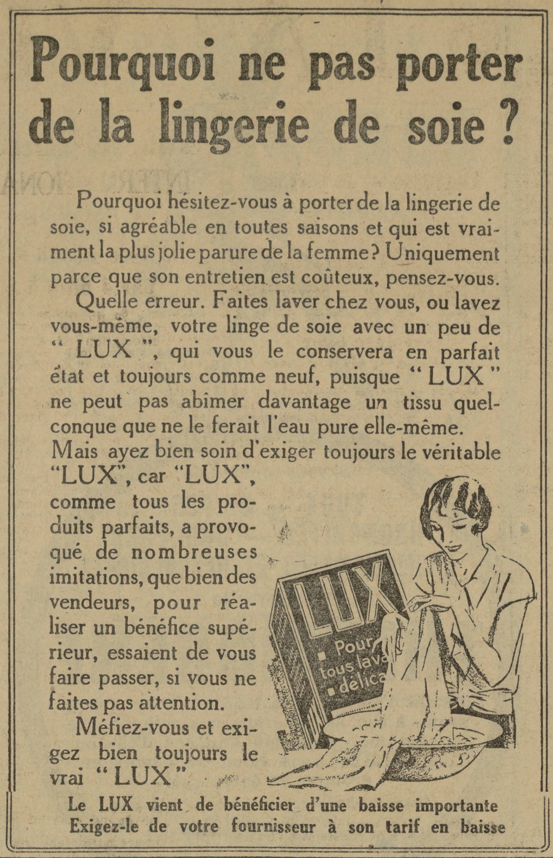 Contenu du Lux