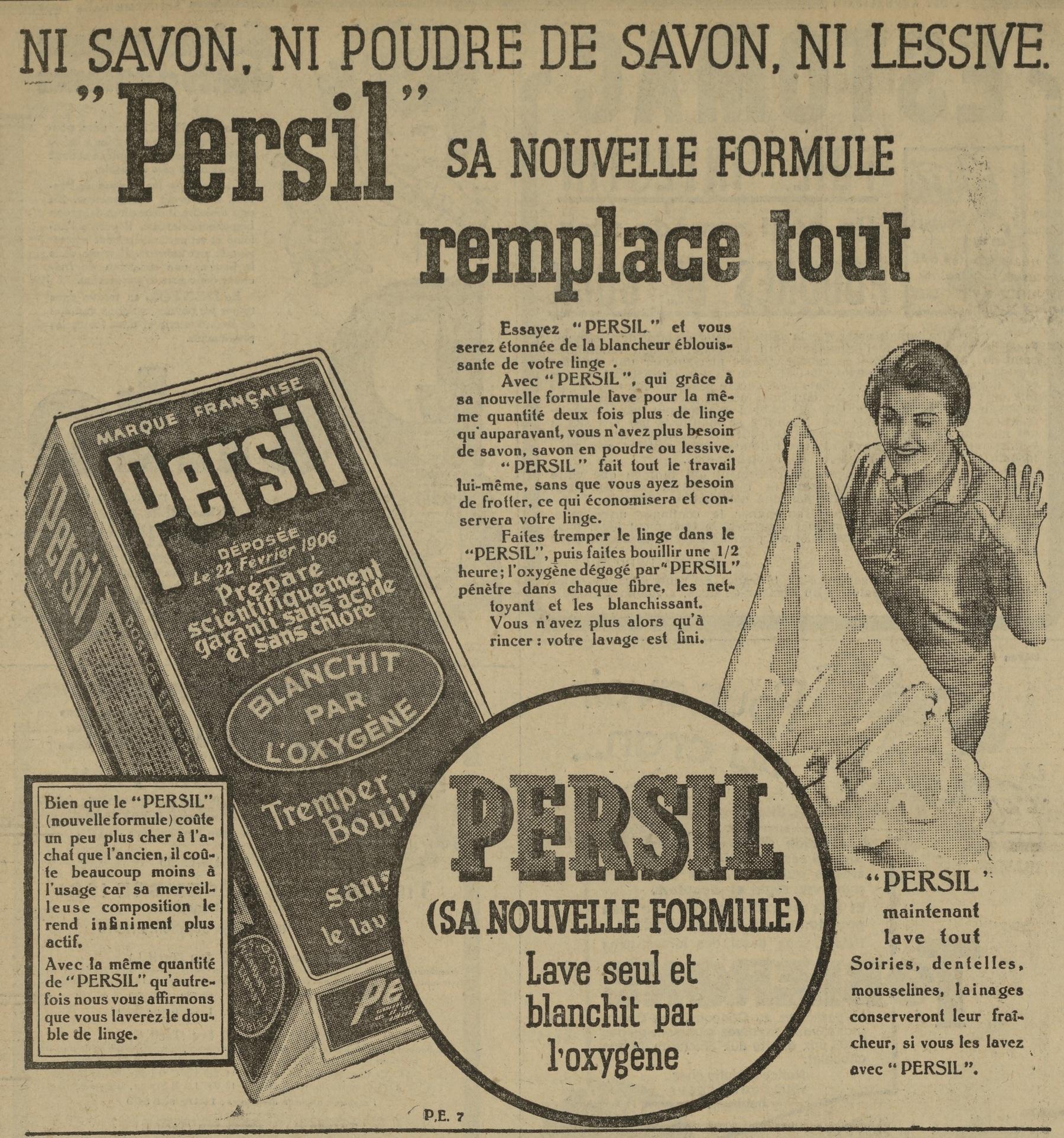 """Contenu du """"Persil"""" sa nouvelle formule remplace tout"""