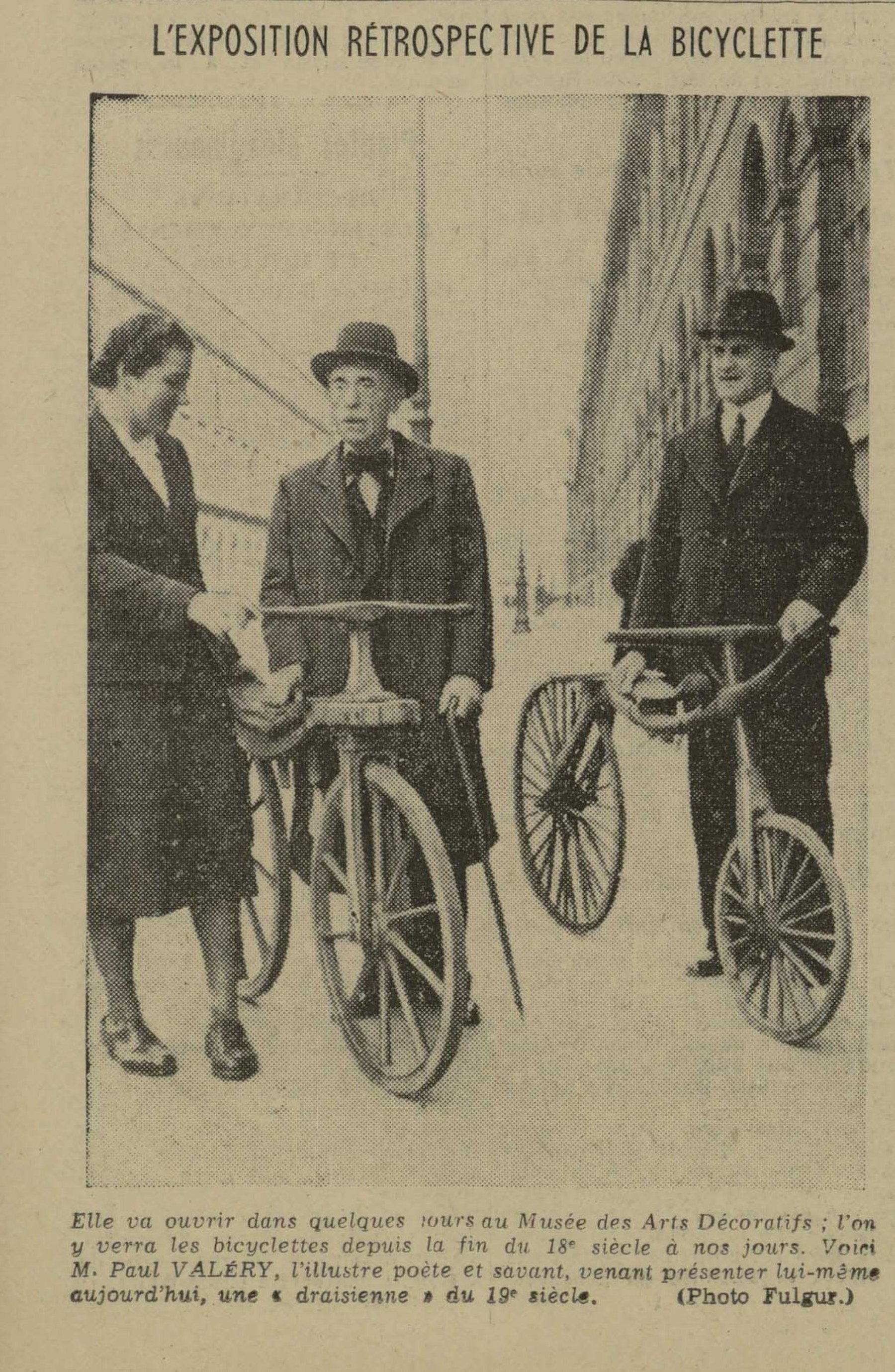 Contenu du L'exposition rétrospective de la bicyclette