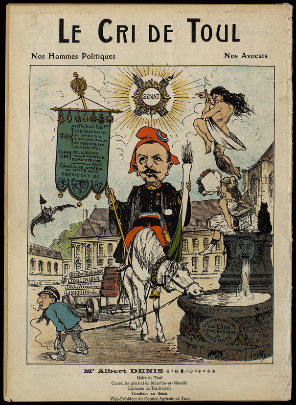 Caricatures d'hommes politiques dans Le Cri de Nancy