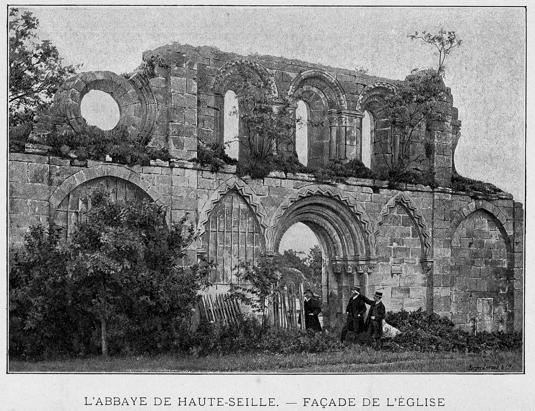 Contenu du L'abbaye de Haute-Seille : façade de l'église