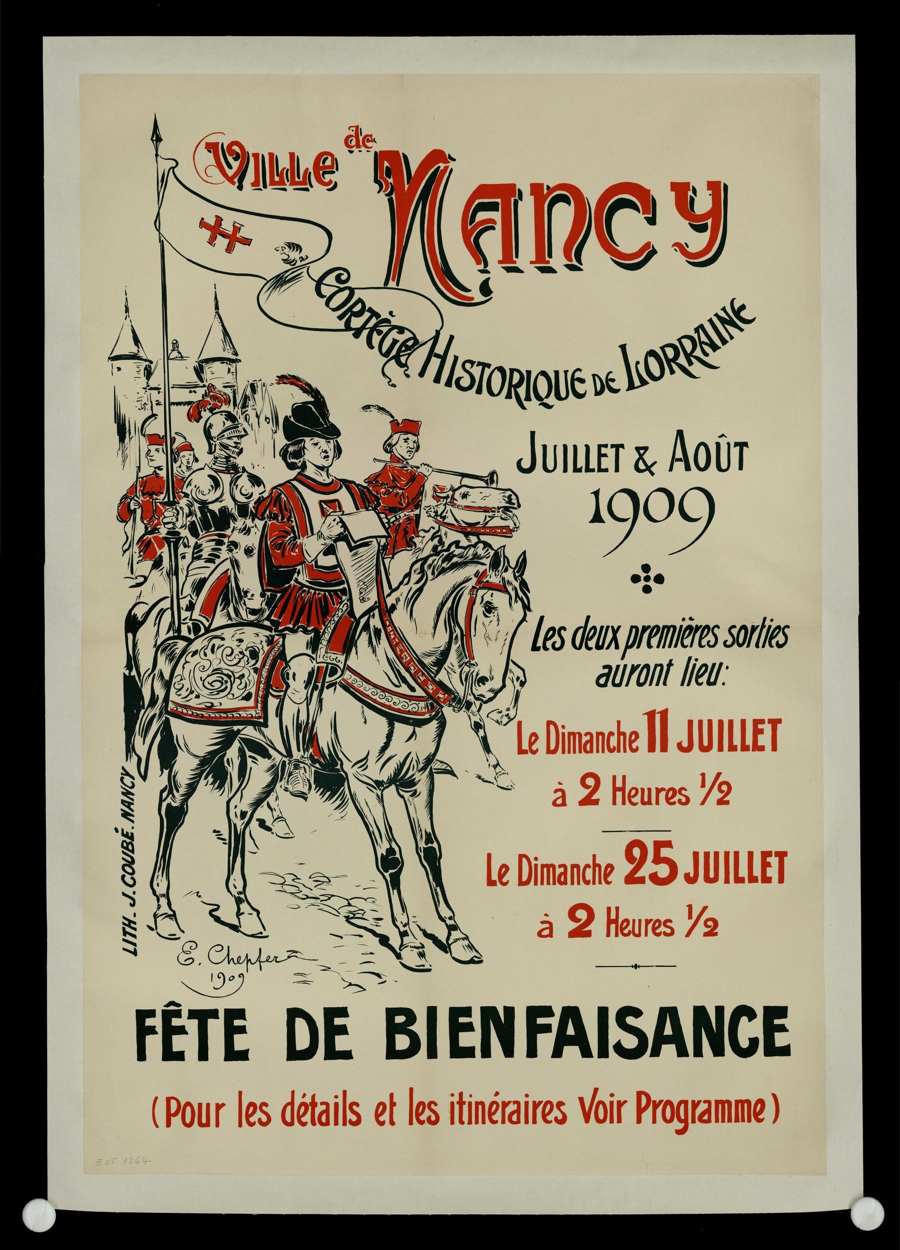 Contenu du Ville de Nancy :  Cortège historique de Lorraine Juillet et Août 1909
