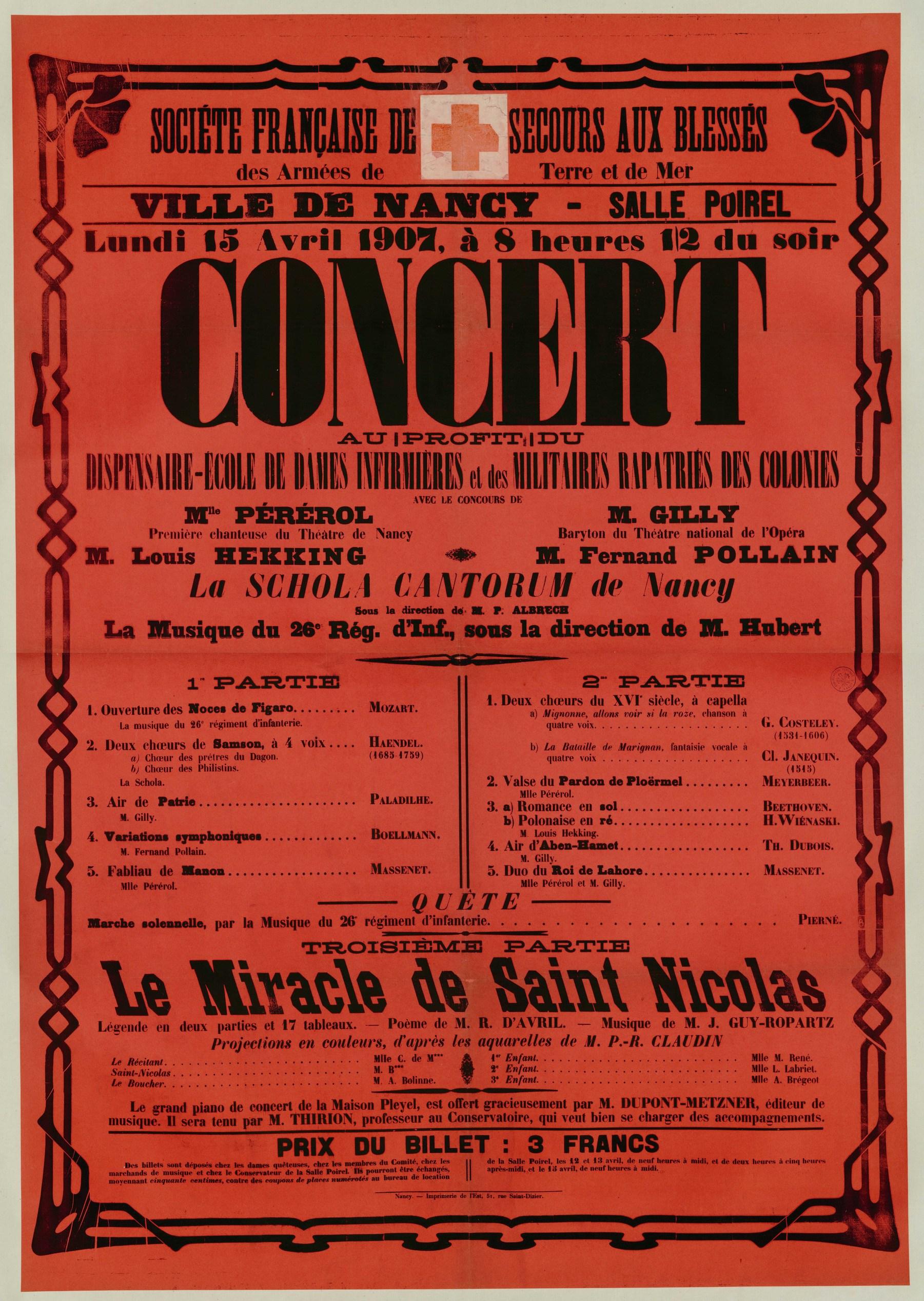 Contenu du Concert caritatif