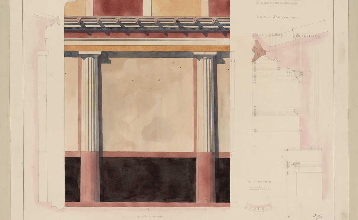 Contenu du Pompéi, ordre décorant le mur du jardin de la maison dite chambre noire
