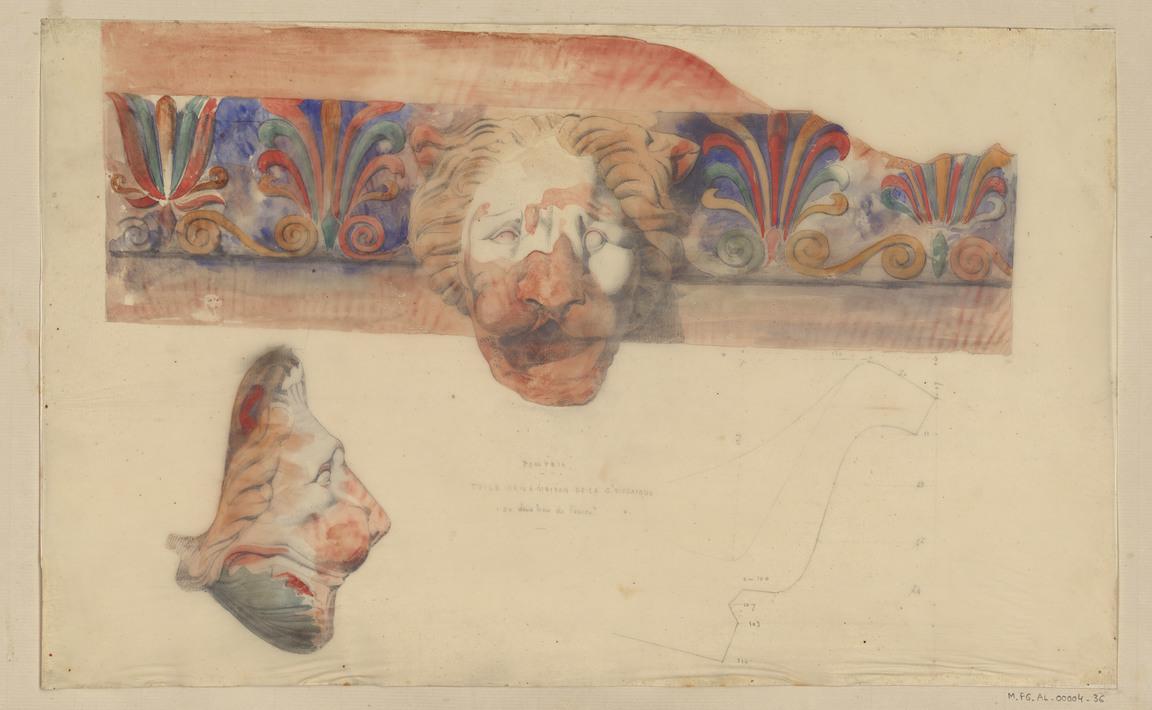 Contenu du Pompeia. Tuile de la maison de la grande mosaïque