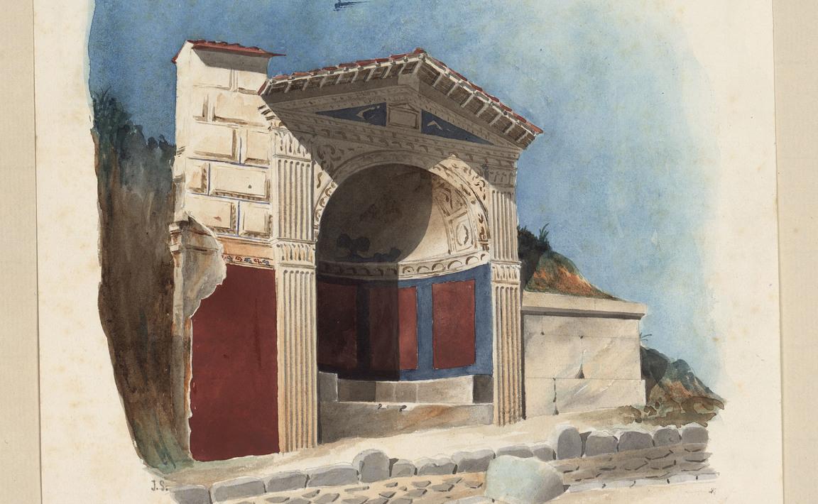 Contenu du Pompeie. Exedre sur la voie des tombeaux