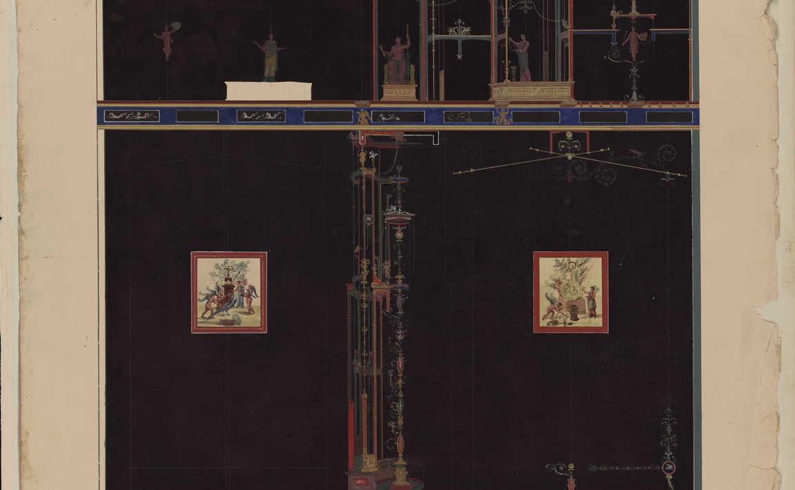 Contenu du Fresque murale de la maison de la paroi noire