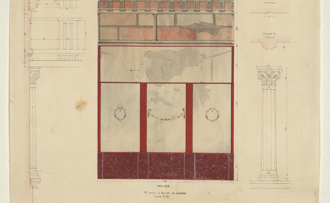 Contenu du Pompeia, peinture dans la maison de Salluste