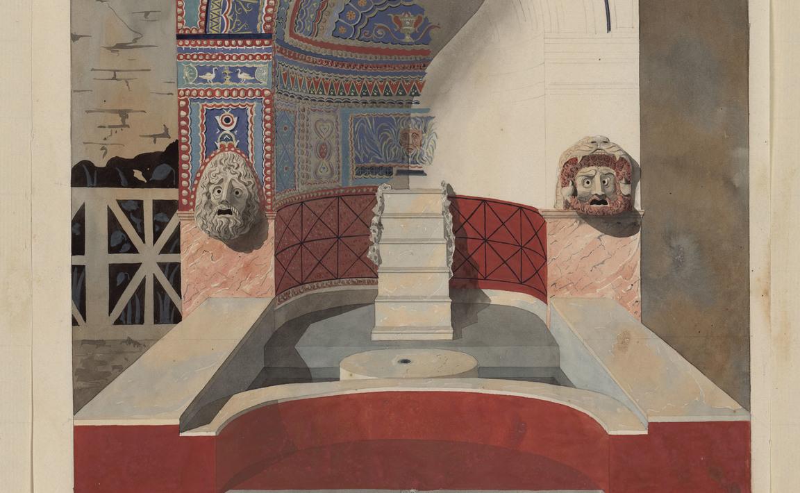 Contenu du Pompeii, fontaine en mosaïques et en coquilles