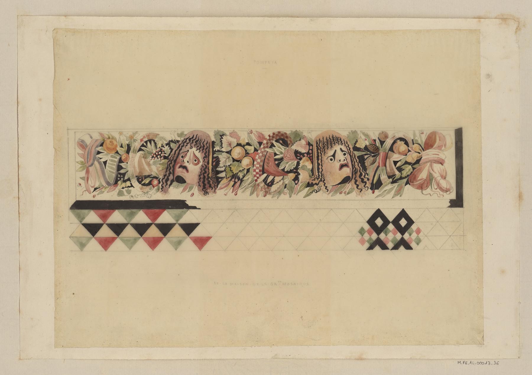 Contenu du Pompéia, de la maison de la grande mosaïque