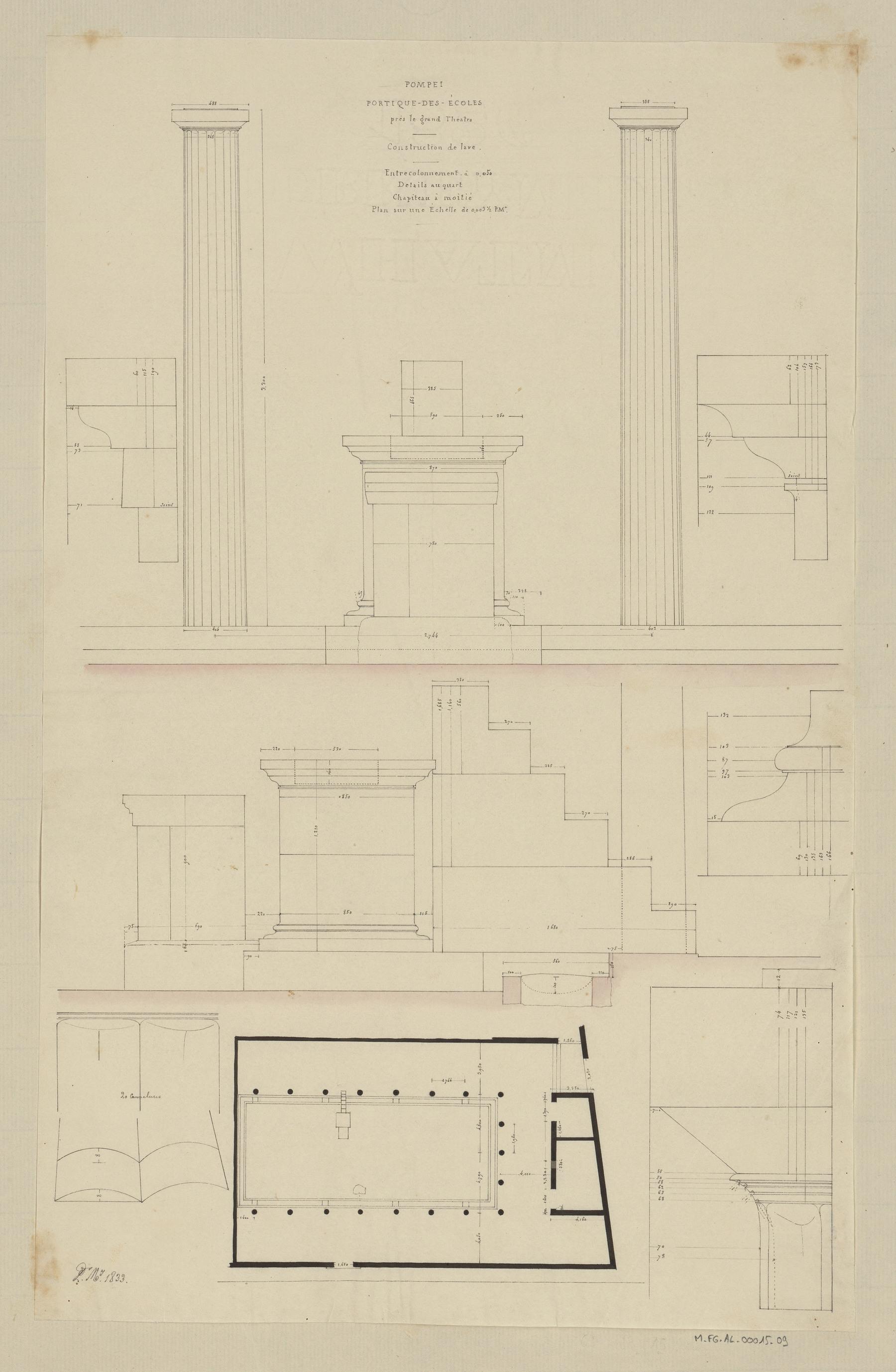 Contenu du Pompéi, portique des écoles près le grand théâtre