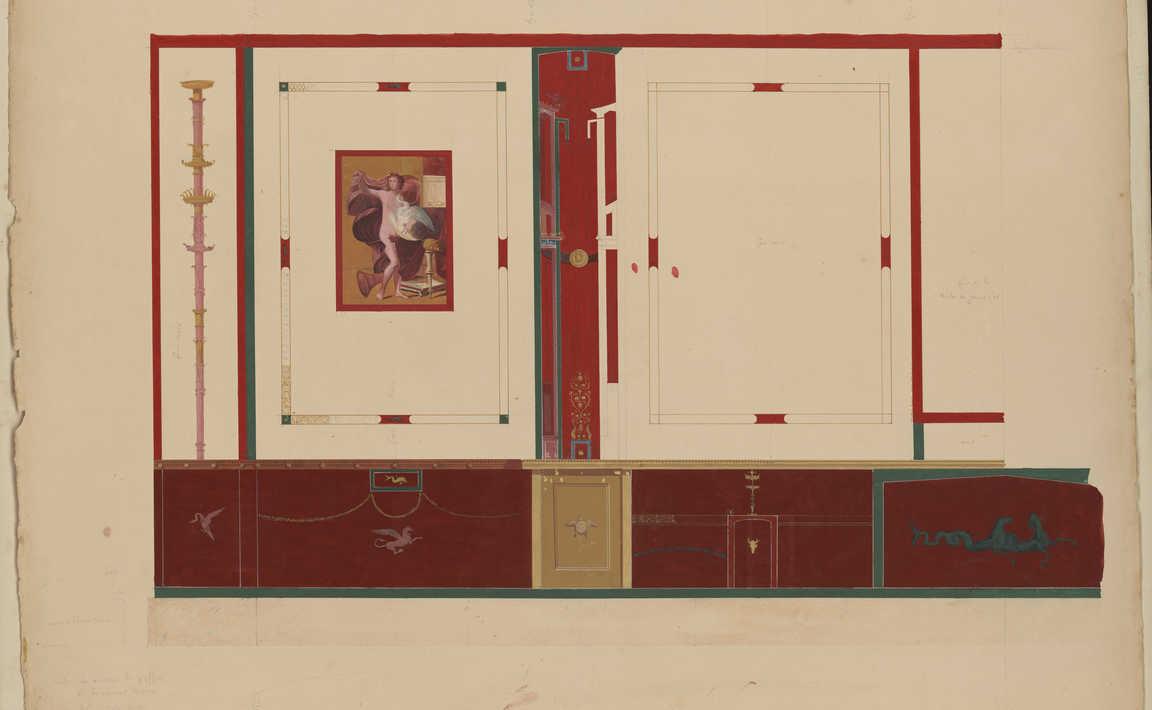 Contenu du Fresque de la maison d'Ariane ou des chapiteaux colorés