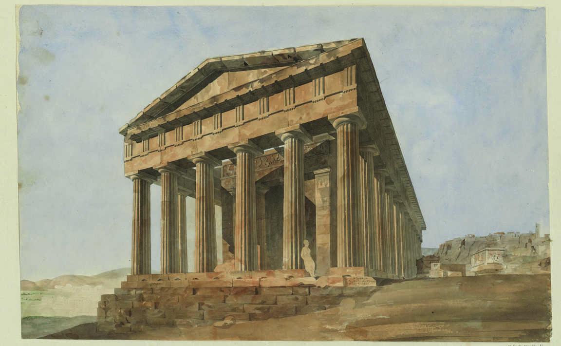 Contenu du Athènes, temple de Thesée : juin 1838