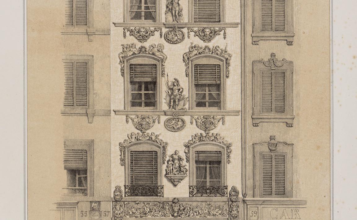 Contenu du Notice sur la façade de la maison sculptée par Adam en 1718