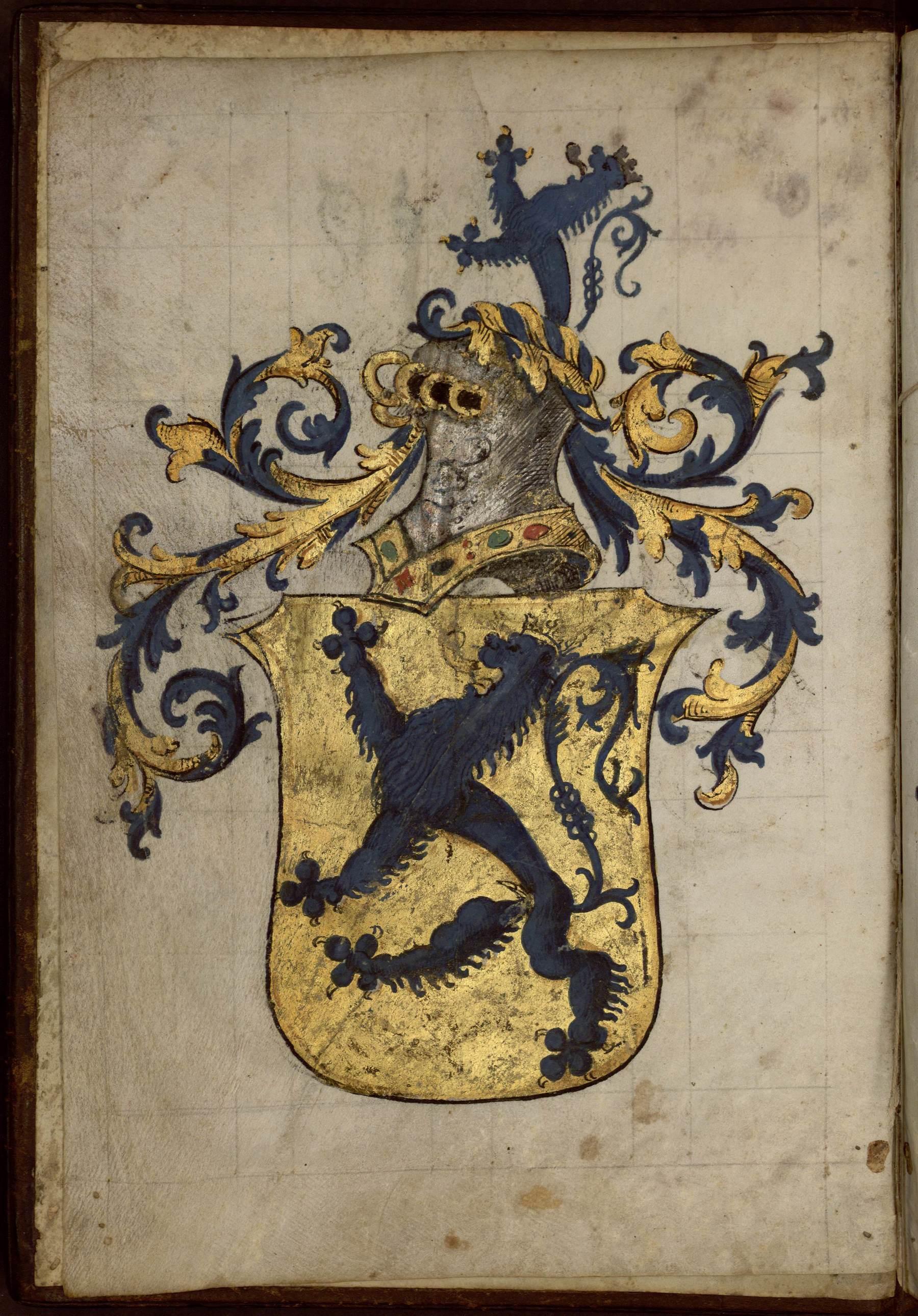 Contenu du Armorial composé pour Nicolas de Lutzelbourg, seigneur de Fléville, capitaine de Nancy.