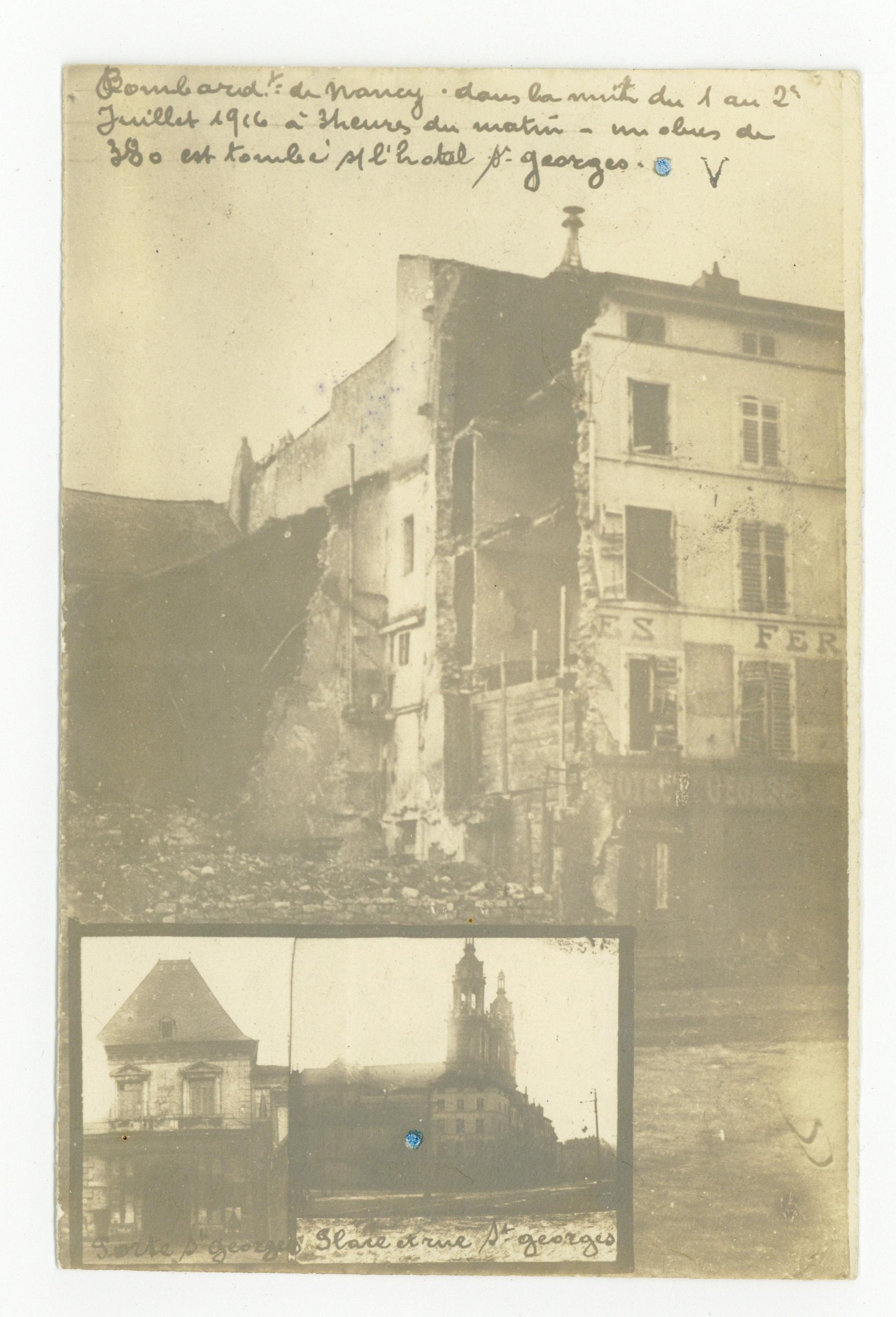 Contenu du Bombardement de juillet 1916, quartier St-Georges.