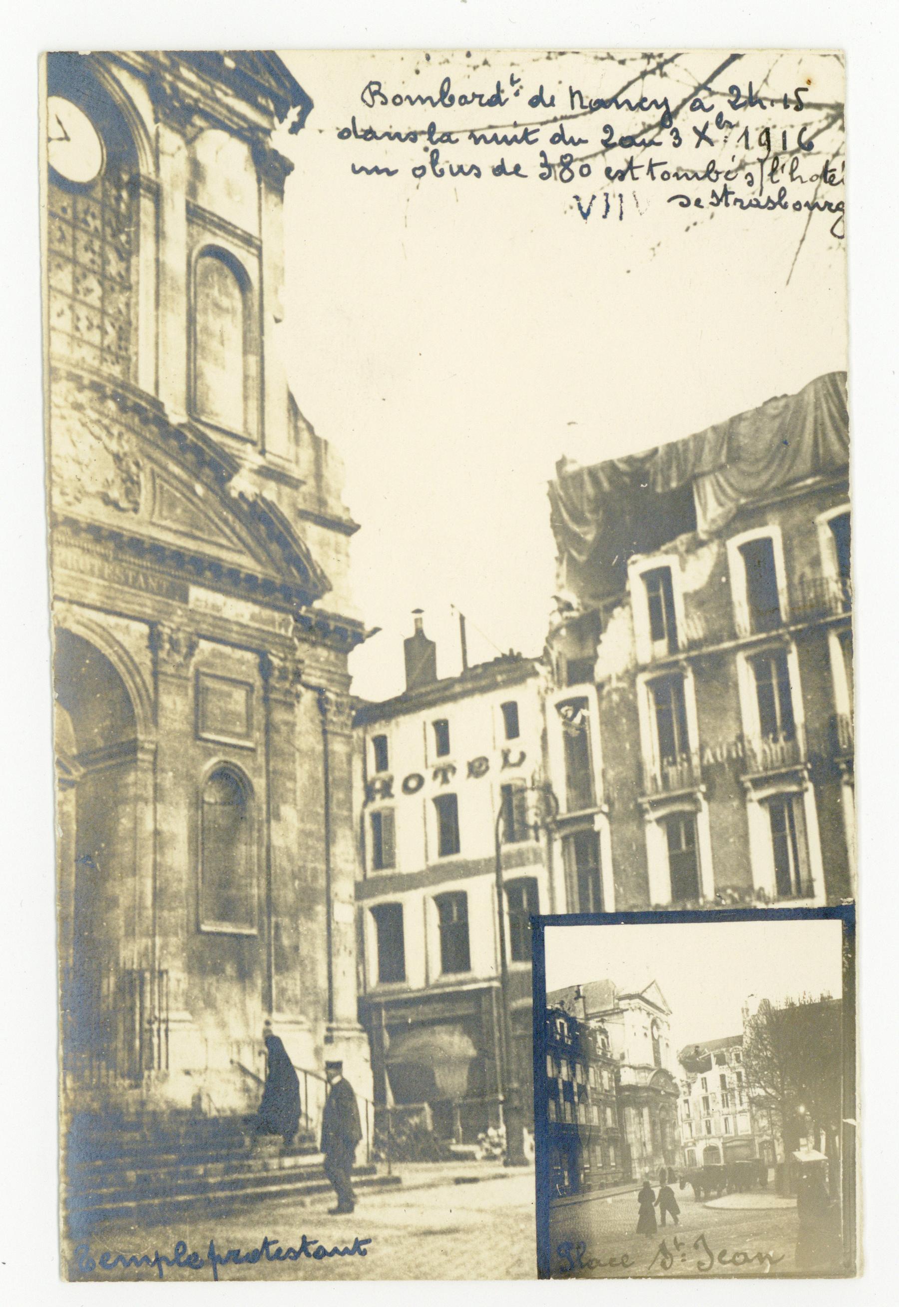 Contenu du Bombardement d'octobre 1916, place St-Jean.