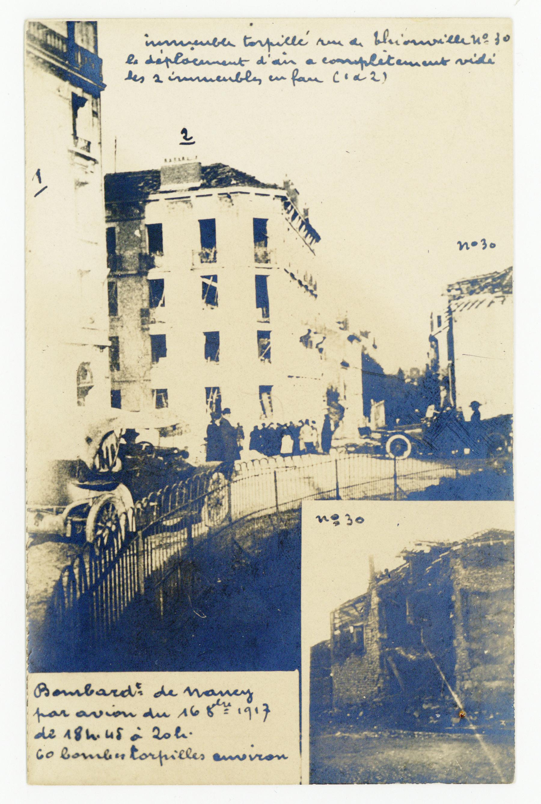 Contenu du Bombardement d'octobre 1917, rue de Thionville.