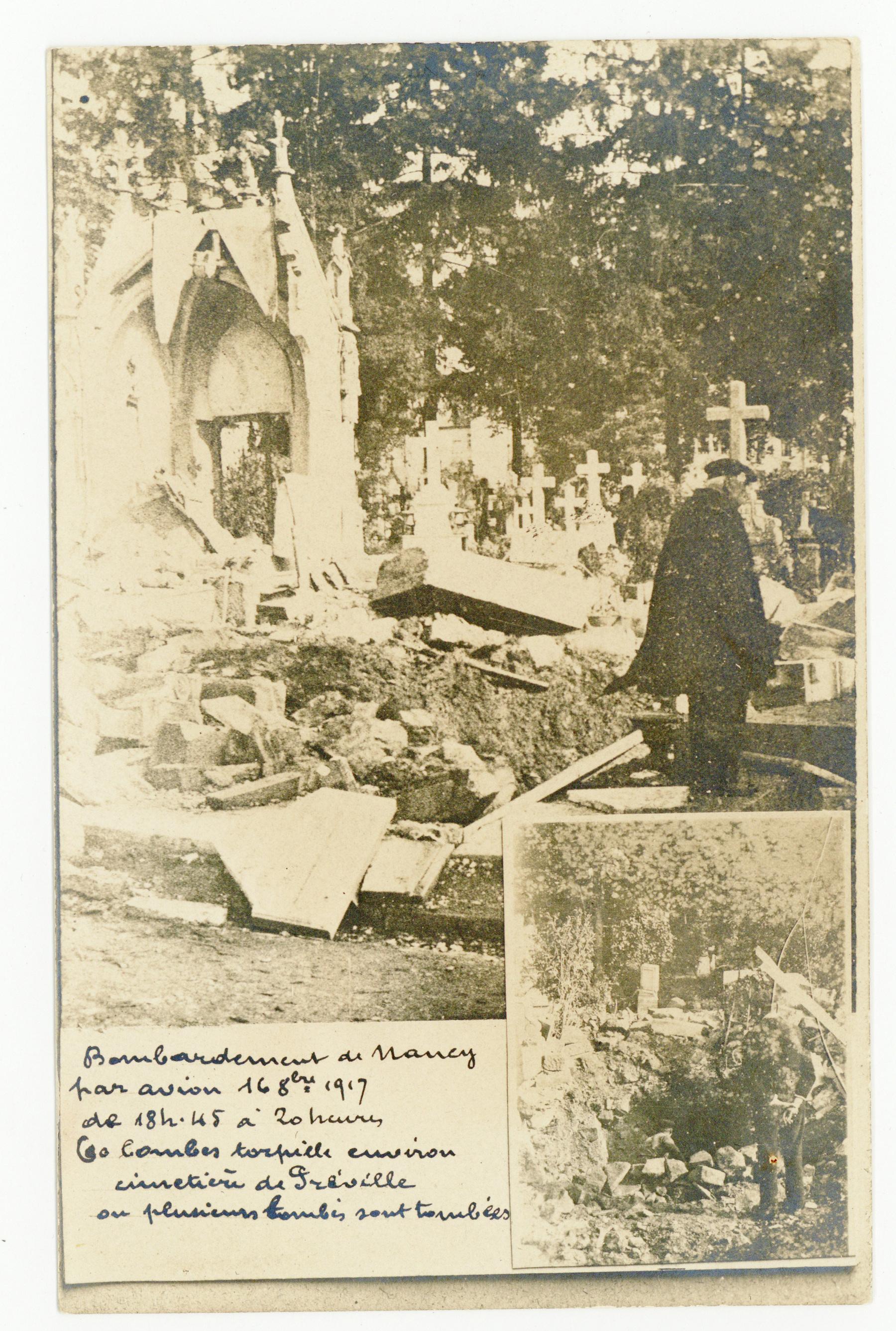 Contenu du Bombardement d'octobre 1917, cimetière de Préville.