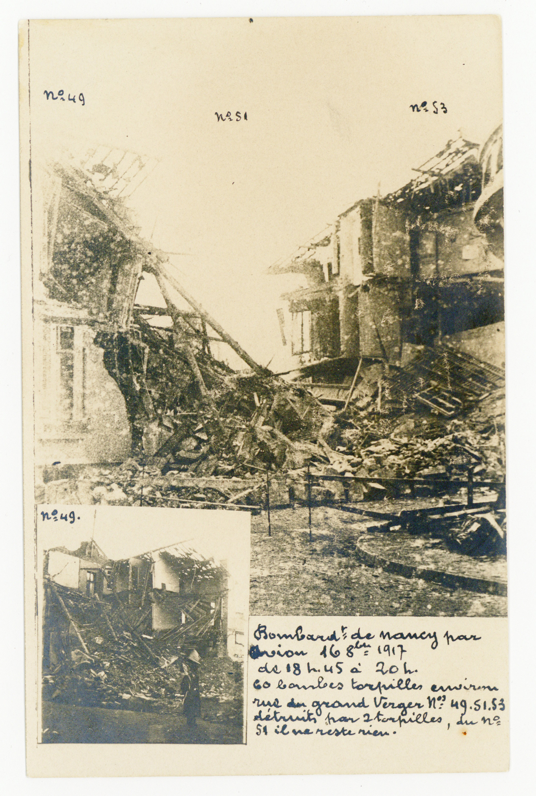 Contenu du Bombardement d'octobre 1917, rue du Grand Verger.