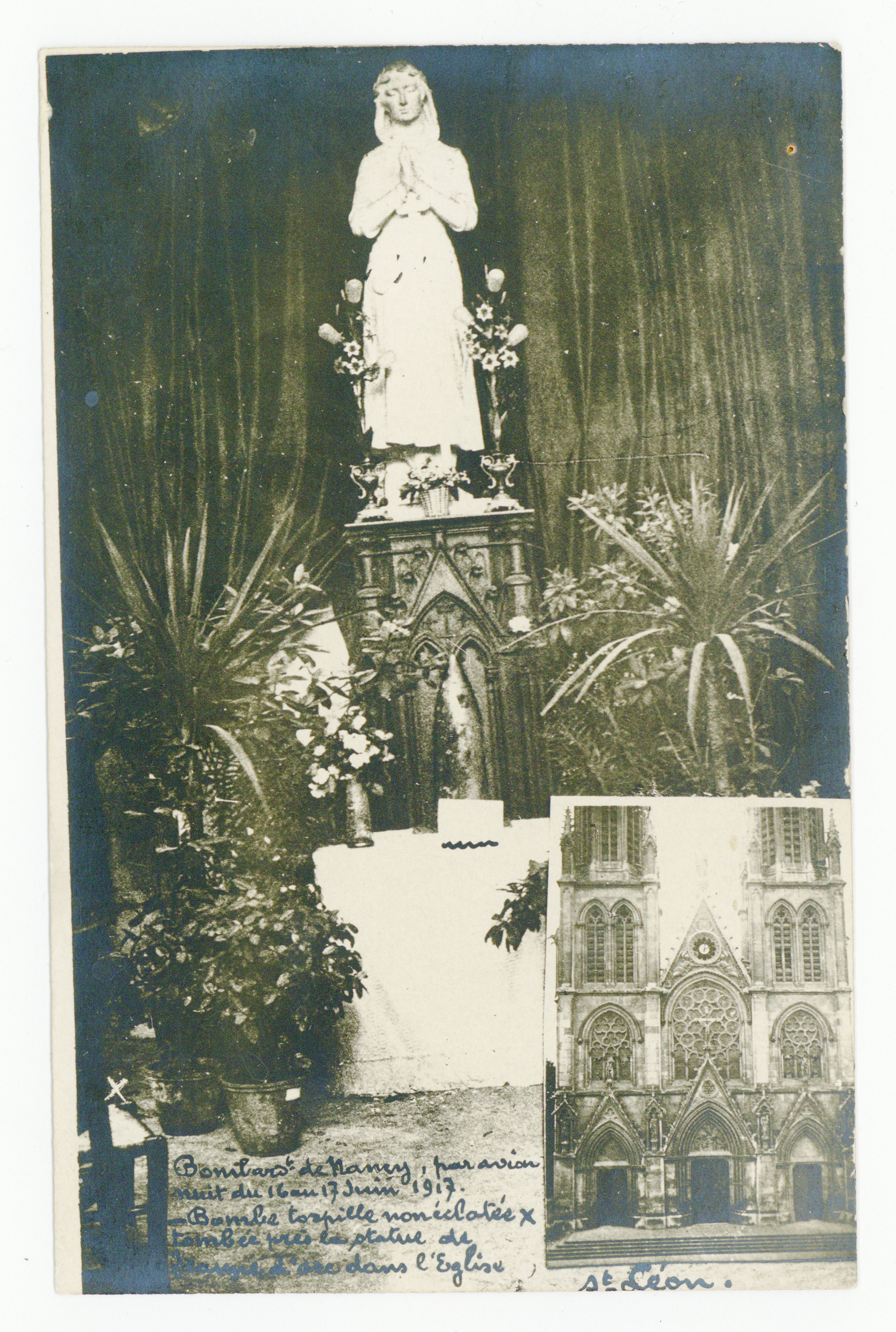 Contenu du Bombardement de juin 1917, église St-Léon.
