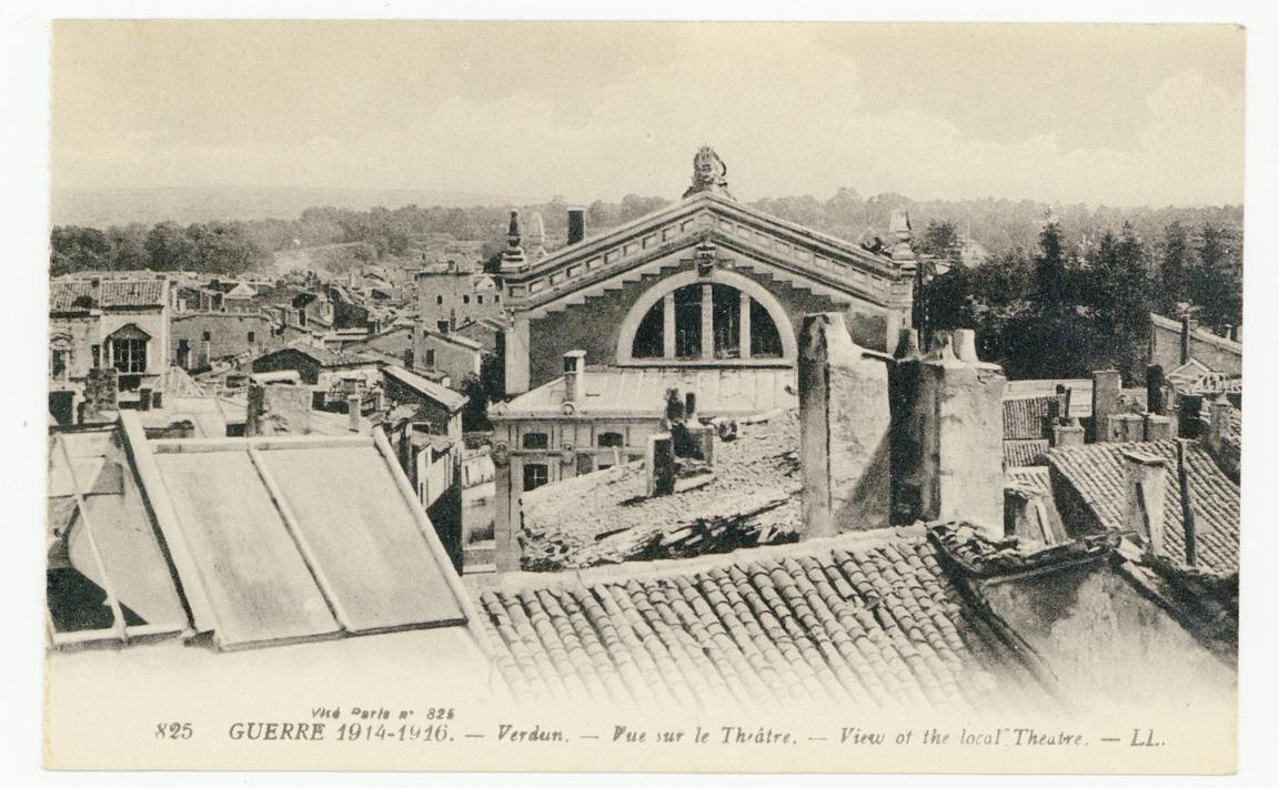 Contenu du Verdun. Vue sur le Théâtre. Guerre 1914-1916