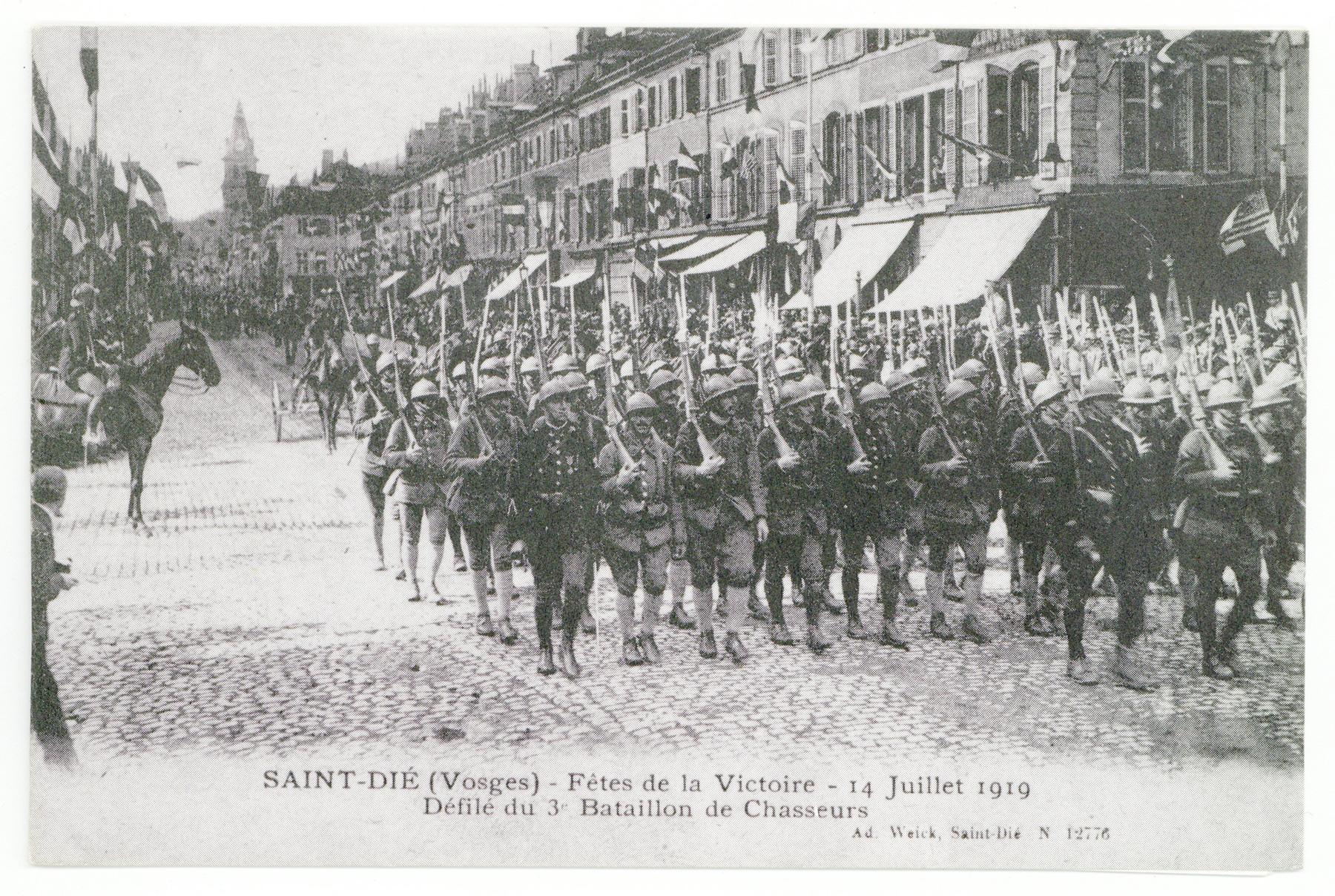 Contenu du Le 14 juillet 1919 à Saint-Dié